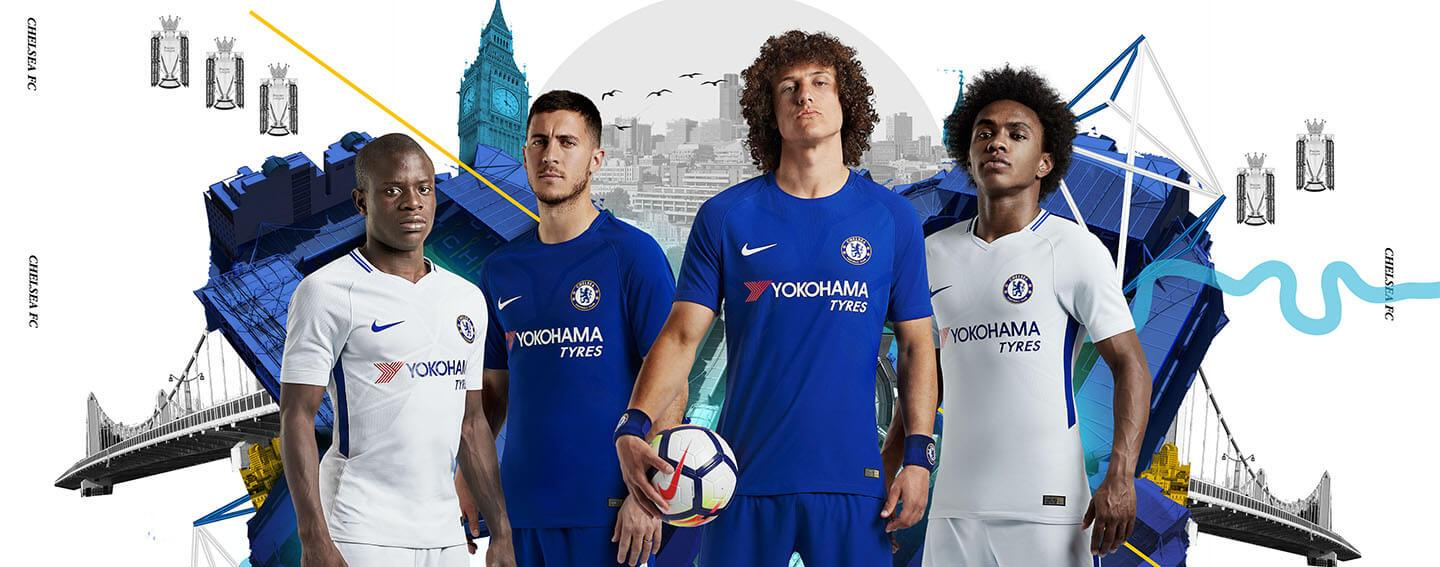 Nike Chelsea Home and Away Jerseys