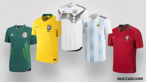 7fe5b38e131 SOCCER.COM predicts the top five most popular jerseys for 2018 FIFA World  Cup™ Russia