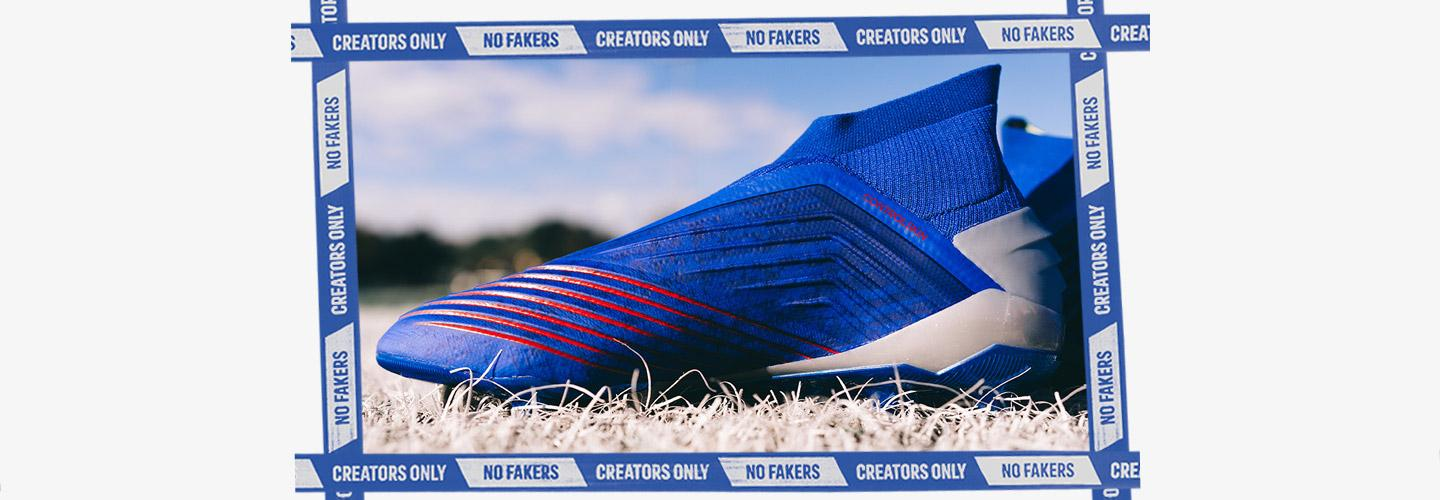 Blue adidas Predator 19+ Firm Ground Soccer Cleat