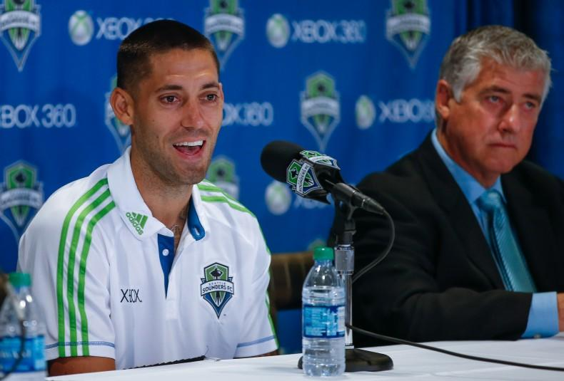 Seattle Sounders Introduce Clint Dempsey